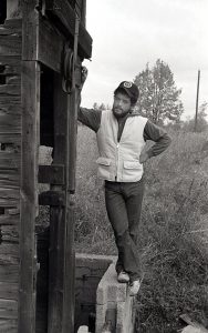 B & W Image, mid-thirties, Michael Vasquez, full length, dapper pose.